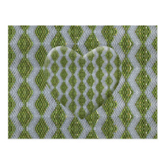Green Harlequin Bling Postcard