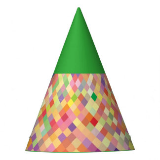 Green Harlequin party hat
