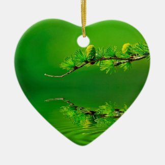 Green Harmony Ceramic Ornament