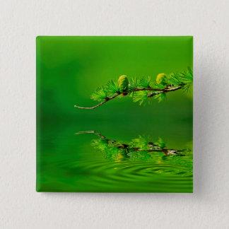 Green Harmony Pinback Button