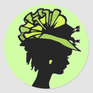 Green Hat Classic Round Sticker