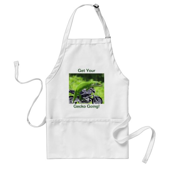 Green Hawaiian Gecko Rider Adult Apron
