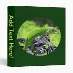 Green Hawaiian Gecko Rider  Binder