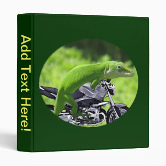 Green Hawaiian Gecko Rider  Binder