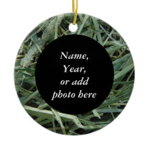 Green Hay 0147 Photo Ceramic Ornament