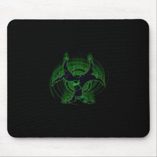 Green Hazard Mouse Pad