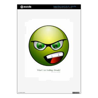Green Head Decals For iPad 3
