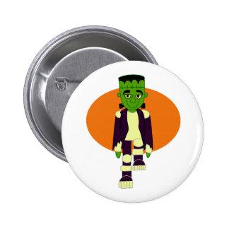 Green head monster orange behind button