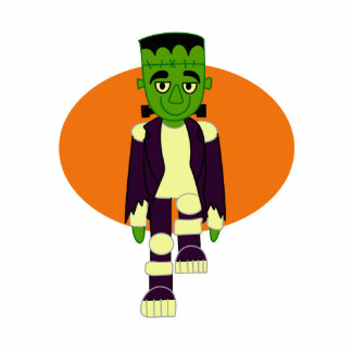 Green head monster orange behind cut outs
