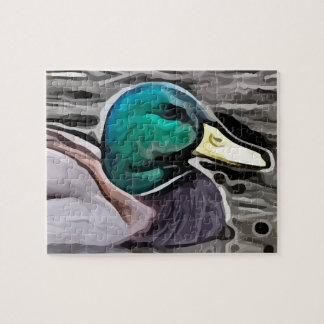 green headed duck  painting jigsaw puzzle