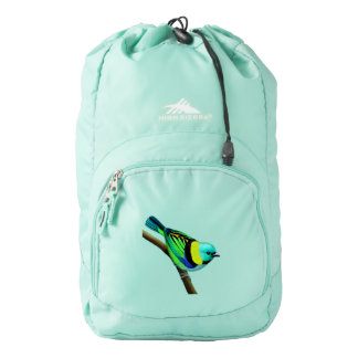 Green Headed Tanager Bird Backpack
