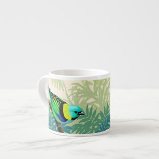 Green Headed Tanager Bird Espresso Cup