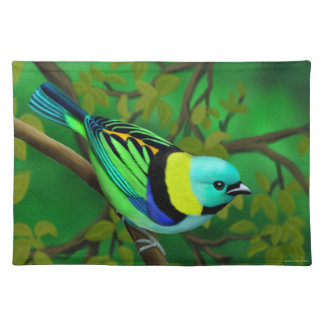 Green Headed Tanager Bird Placemats