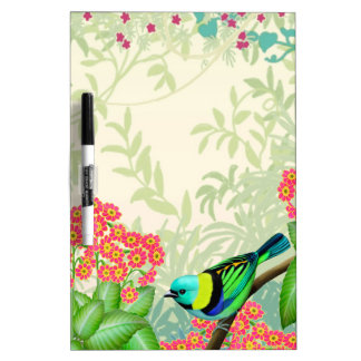 Green Headed Tanager Wild Bird Dry Erase Board