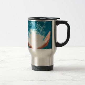 Green healing hands chakra Reiki energy zen yoga Coffee Mugs