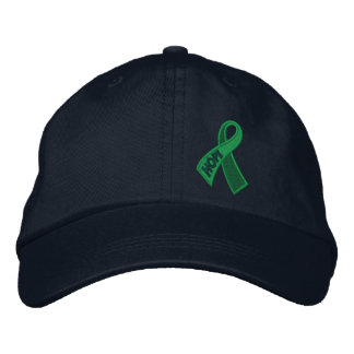 Green Health Hope Ribbon Awareness Embroidered Baseball Cap
