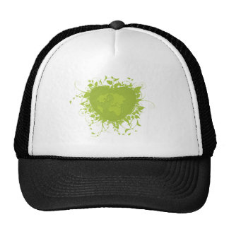 Green Heart and Earth Trucker Hat