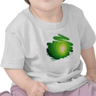 Green Heart Art Spirals Toddler T-Shirt