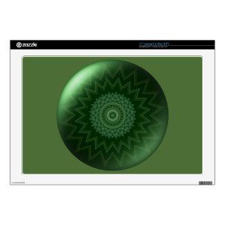 "Green Heart Chakra 17"" Laptop Skin"