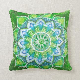 Green heart chakra, chakras, meditation, zen, heal pillow