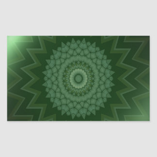 Green Heart Chakra Rectangular Sticker