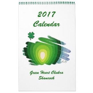 Green Heart Chakra Shamrock 2017 Calendar 1 Page