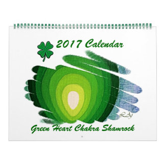Green Heart Chakra Shamrock 2017 Calendar Huge 2 P