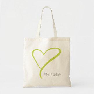 Green Heart Doodle Tote Bag