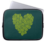 Green Heart Electronics Sleeve Laptop Computer Sleeve