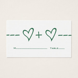 Green Heart Equation Place Card