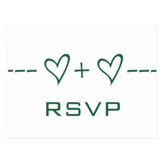 Green Heart Equation RSVP Postcard
