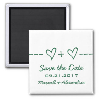 Green Heart Equation Save the Date Magnet