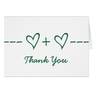 Green Heart Equation Thank You Card