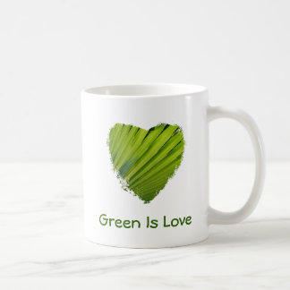 Green Heart, Green Is Love Coffee Mug