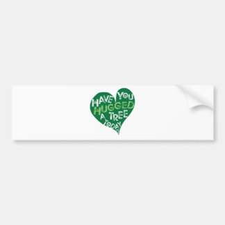 Green Heart (Hug a Tree) Bumper Sticker