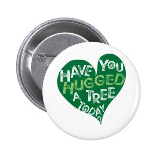 Green Heart (Hug a Tree) Button