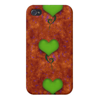 Green Heart iPhone Case 4 Case For iPhone 4