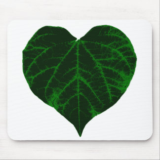 Green Heart Leaf Mouse Pad