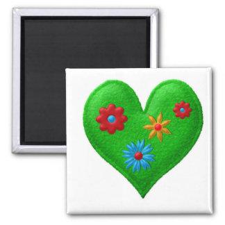 GREEN HEART Locker Magnets, Refrigerator Magnet