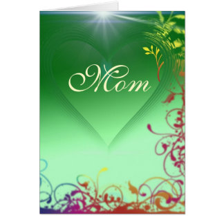 Green Heart Mother's Day Card