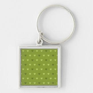 Green Heart Pattern Keychain