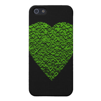 Green Heart. Perned Heart Design. iPhone SE/5/5s Cover