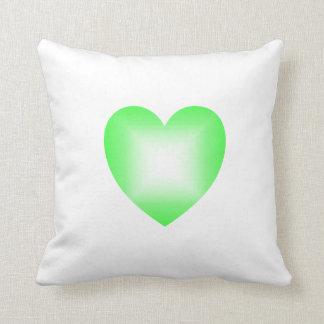 Green Heart Pillow