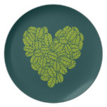 Green Heart Plate
