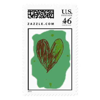 Green Heart Stamp