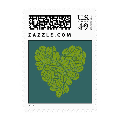 Green Heart Postage