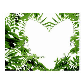 Green Heart Post Cards