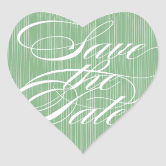 Green Heart  |  Save the Date Envelope Seal