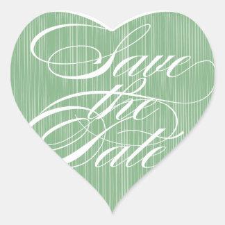 Green Heart  |  Save the Date Envelope Seal Heart Sticker