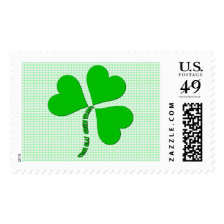 Green Heart St. Patrick Day Stamp